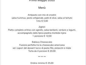 Menù del 1 Maggio 2020, consegna gratuita a Roma Eur!