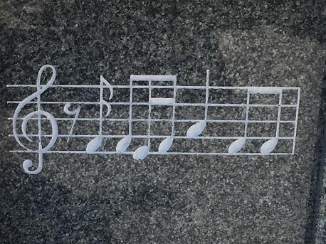 ●表紙 彫刻「音符」