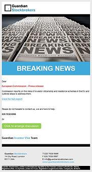 Tier 1 Investor Visa breaking news picture