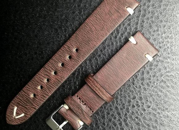 Cinturino in pelle Vintage striato Brown