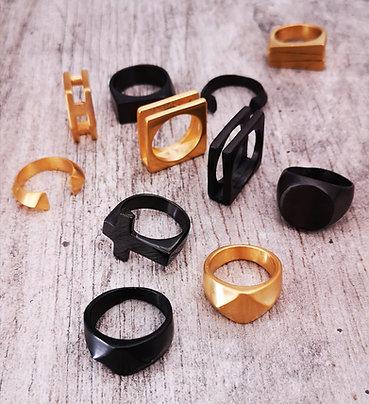 Anelli Acciaio Black & Gold