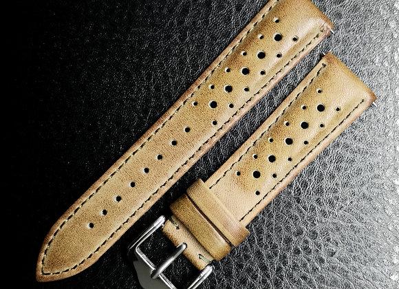 Cinturino in pelle Racing Light Brown