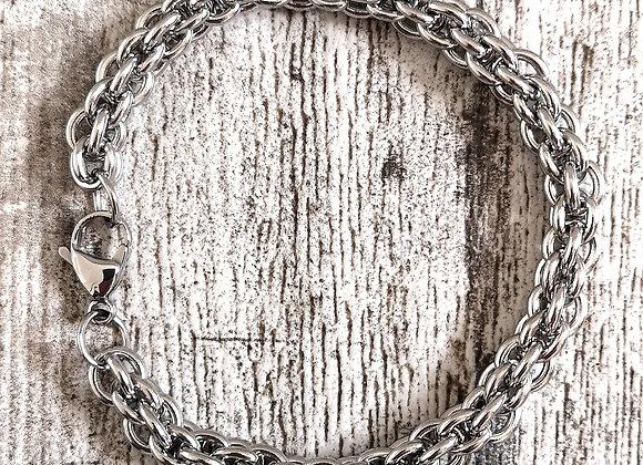 Bracciale acciaio Rope