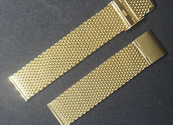 Cinturino in acciaio maglia Milano Oro