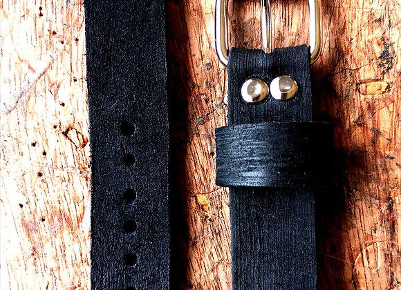 Cinturino in cuoio due pezzi realizzati a mano in stile RAW