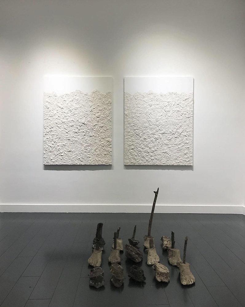 Bois de Boulogne n°1, plâtre, résine acrylique, 146 x 98 cm, 2020.jpg