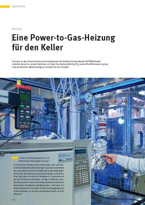 Eine Power-to-Gas-Heizung für den Keller