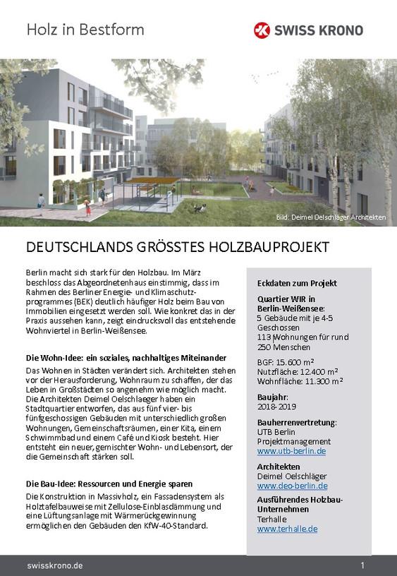 Deutschlands größtes Holzbauprojekt