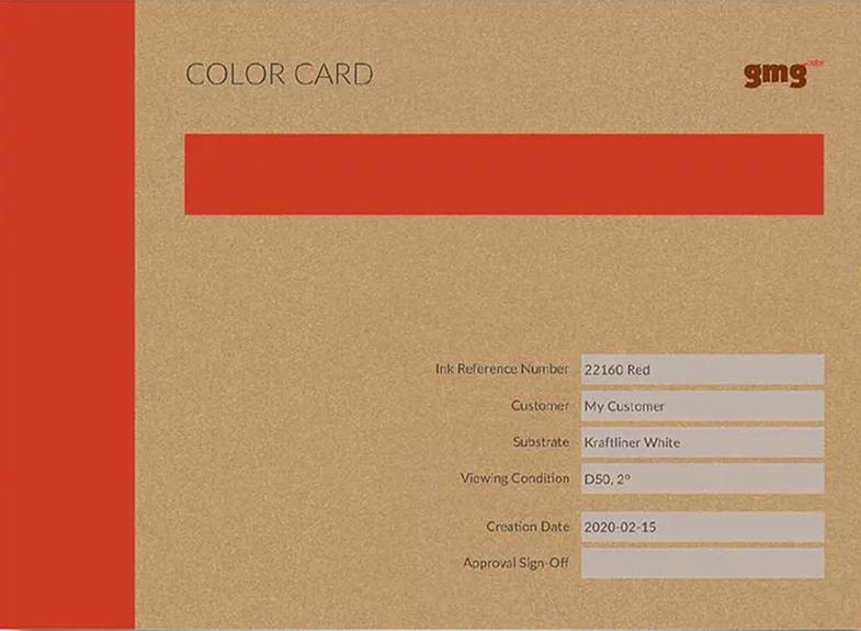 gmg colorcard simulación