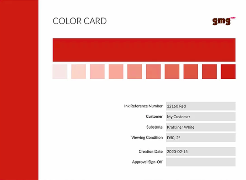 GMG colorcard tramas