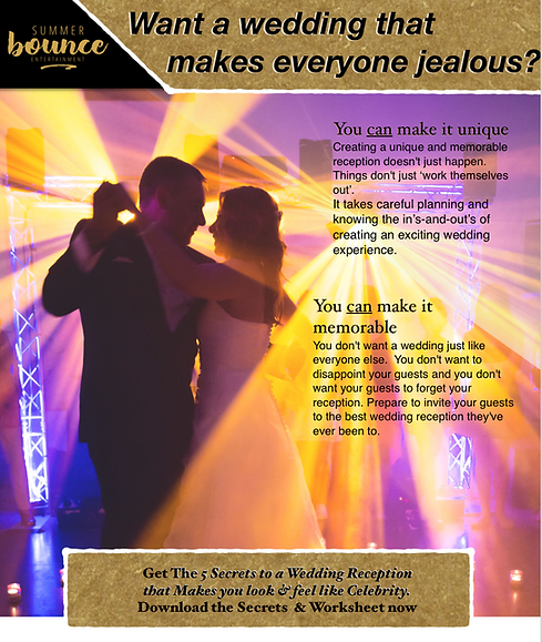 Couple dancing in lights at their wedding