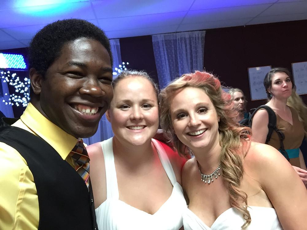 Same sex couple wedding reception