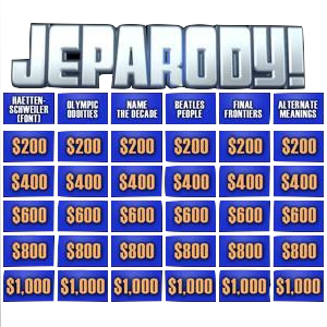 JeParody. How to make your Christmas party an exciting game show.