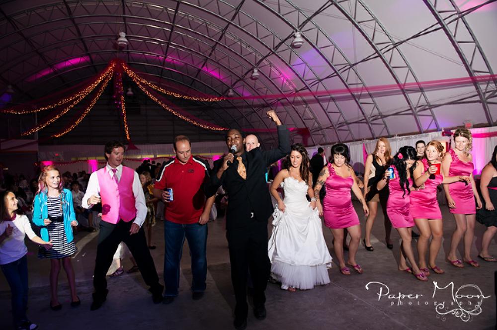 Saskatchewan Wedding party & guests have a fun time with an interactive DJ ? MC