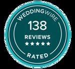 138 WeddingWire Reviews (Trans Backgroun