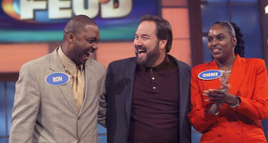 people laughing on family feud gameshow
