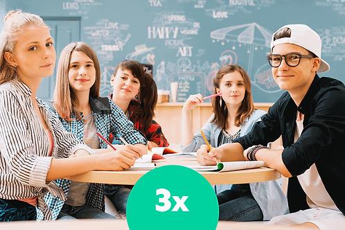 Komplettes  B2 Niveau in 5 Monaten Unterricht 3x pro Wo | 26 St pro Monat