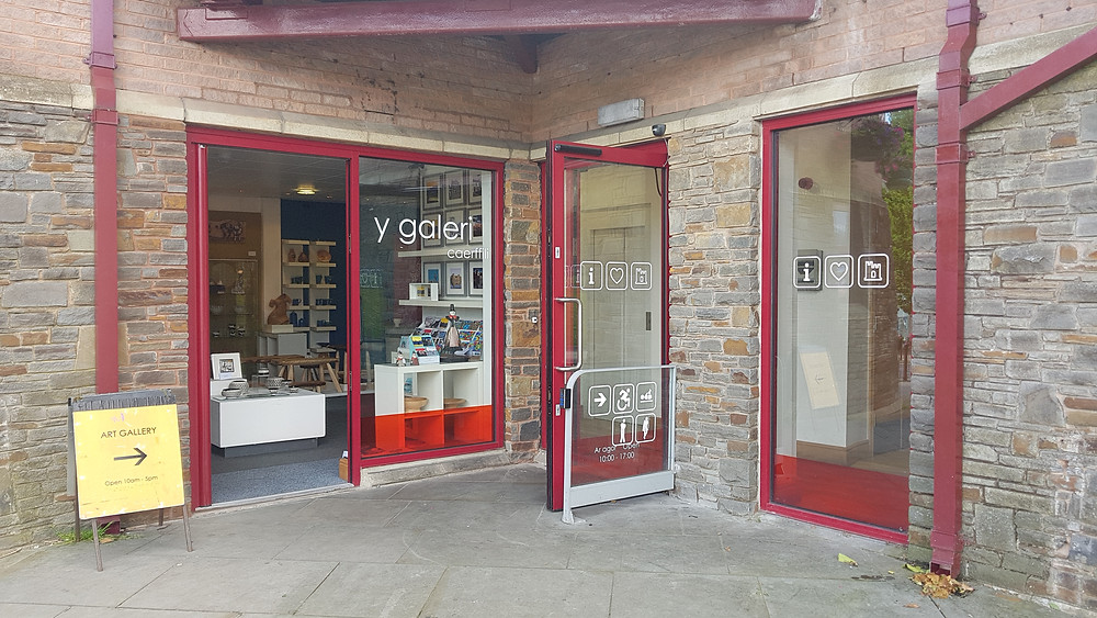 Front of dog friendly gallery in Caerphilly
