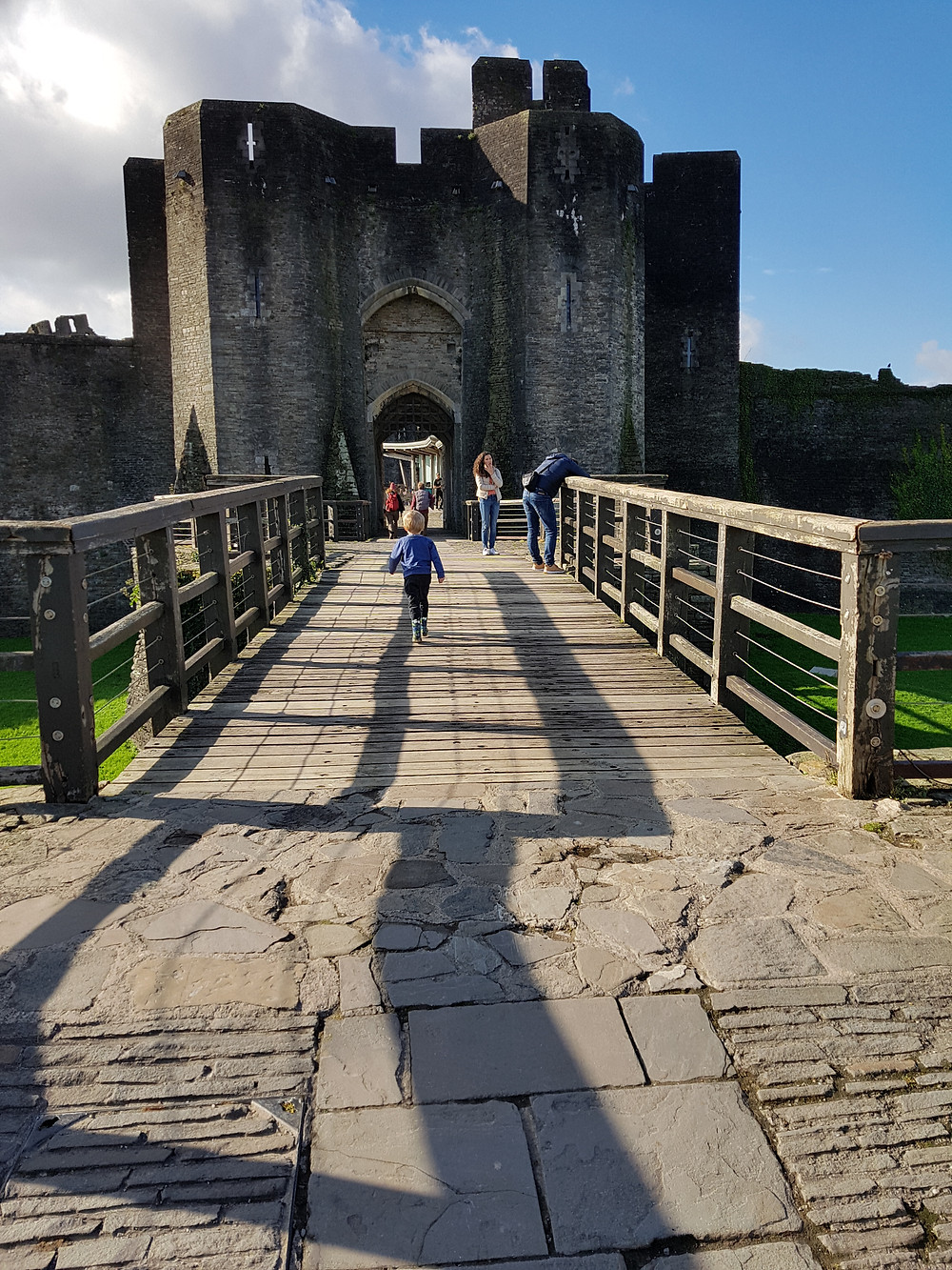 Dog friendly Caerphilly Castle