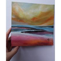 Ma 1ère mini toile dans ma nouvelle série Petits formats