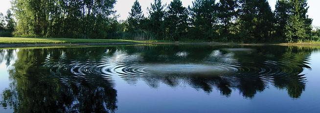 pond aeration system layout