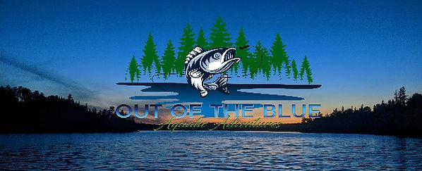 out of the blue fishing adventures logo