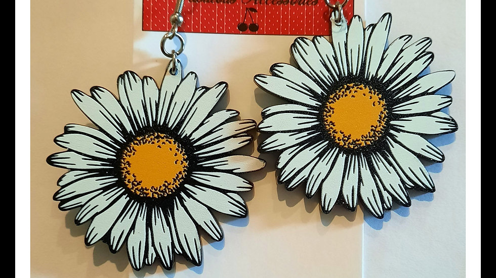 Oversized Acrylic Daisy Earrings
