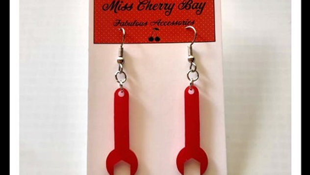 Garage Girl Wrench Earrings