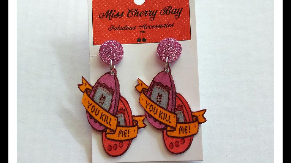 Tamagochi earrings