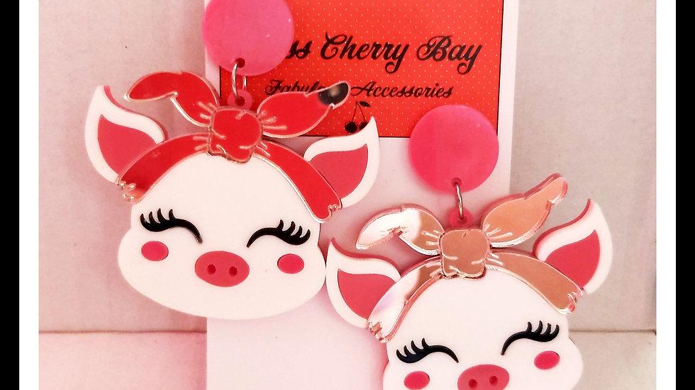 Pretty Piggy Earrings