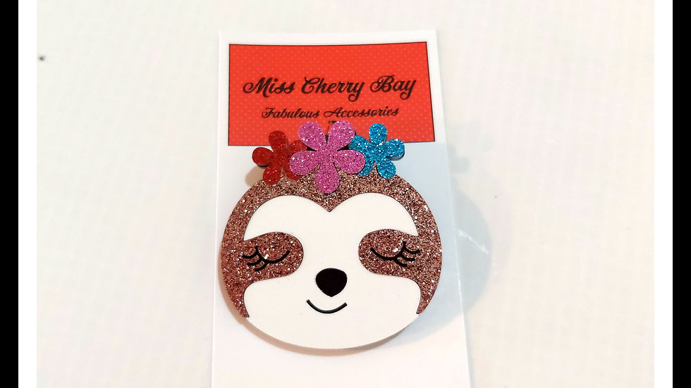 Sweet Sloth Brooch