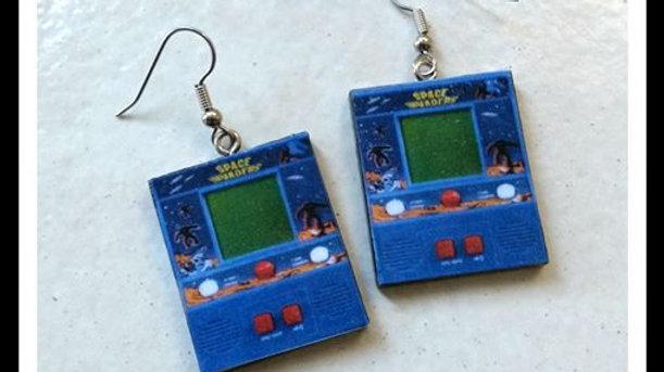 Retro Wooden Gaming Earrings