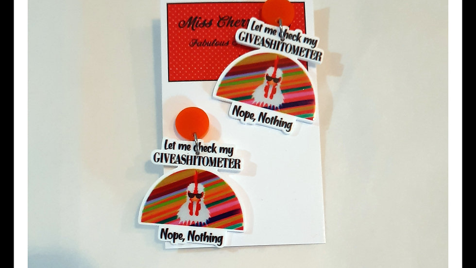 Giveashitometer Earrings
