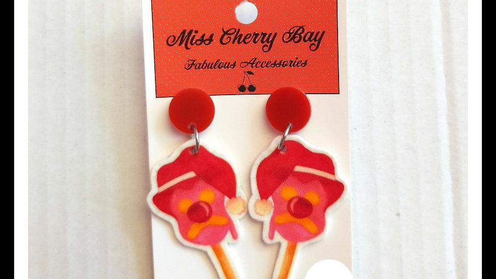 Christmas BubbleOBill Shrink Plastic earrings