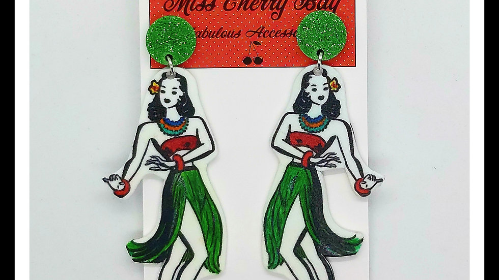 Hula Girl Earrings
