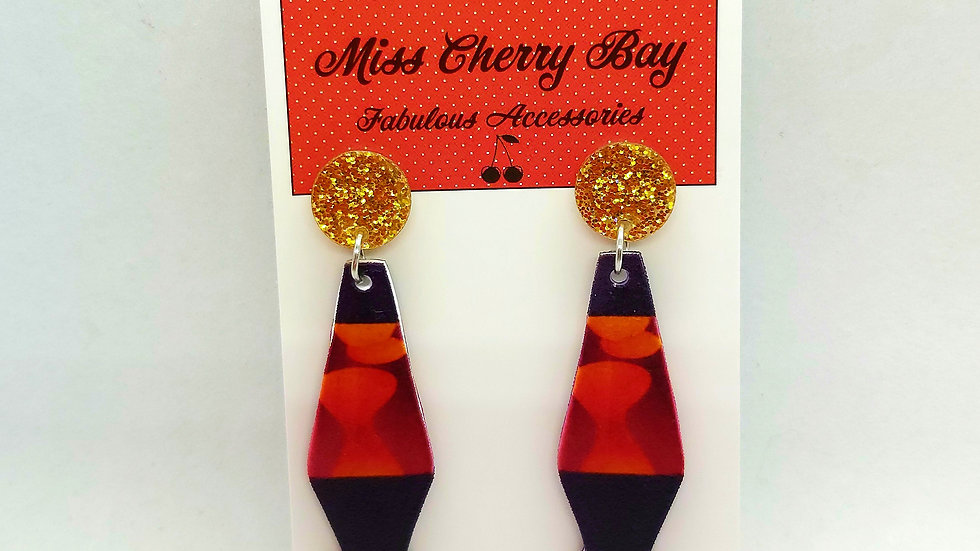 Funky Lava Lamp earrings