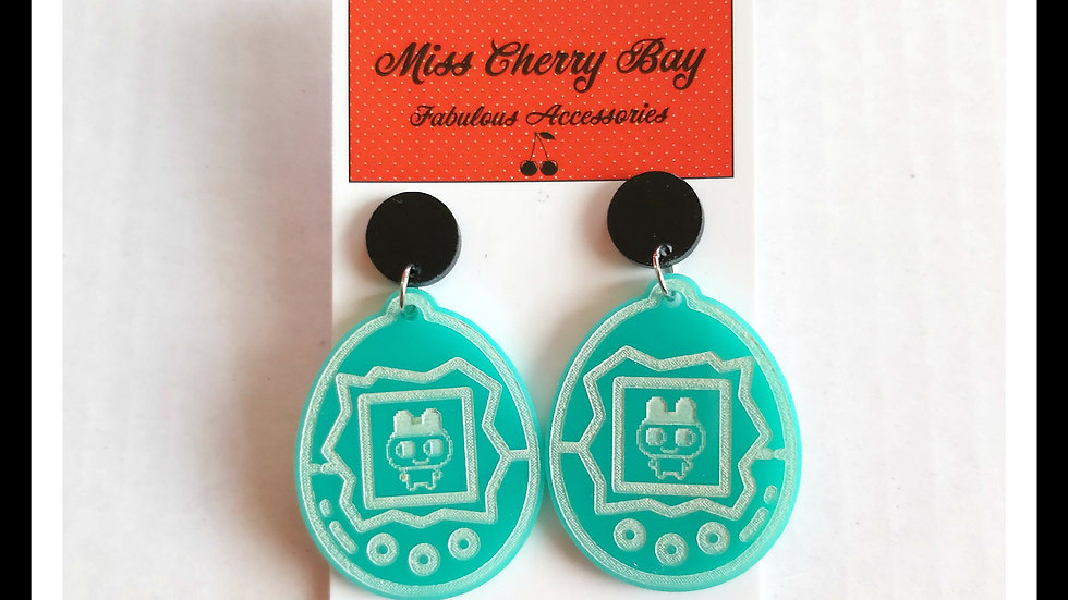 Retro Style Tamagochi Earrings
