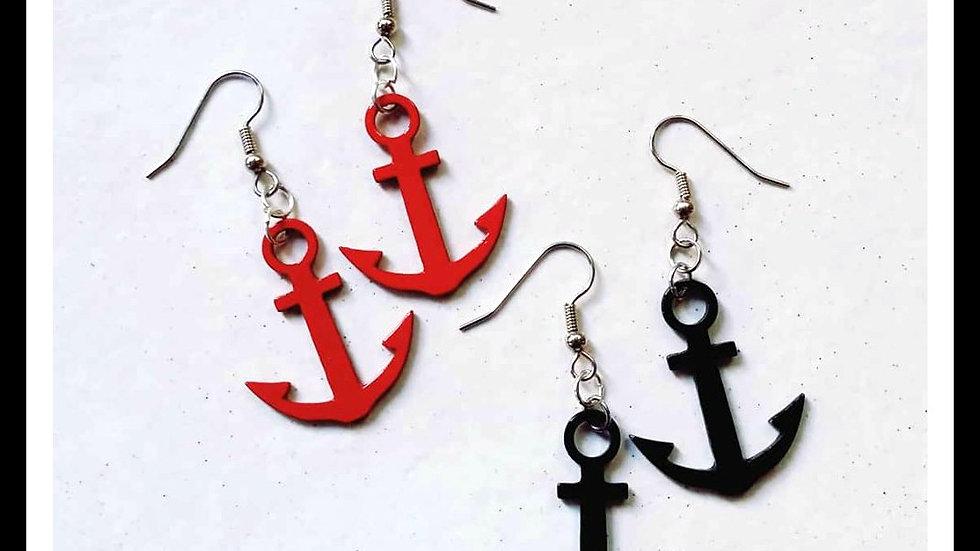 Metal Anchor Earrings