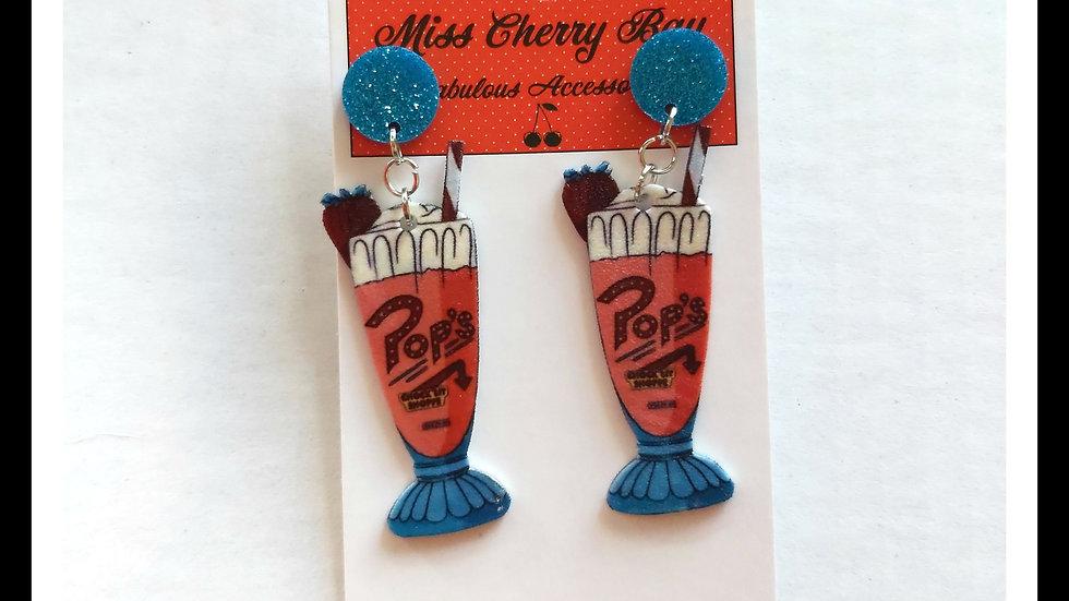 Pops Chock'lit Shop Sundae Earrings