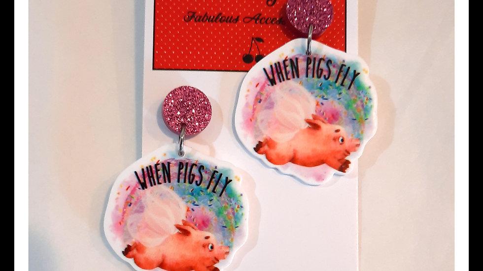 When Pigs Fly earrings