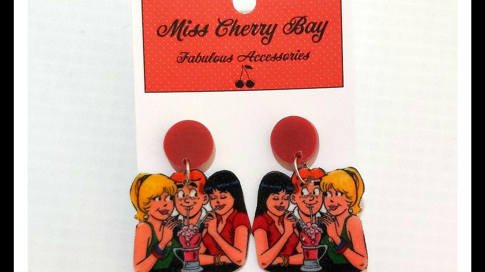 Riverdale Shrink Plastic Earrings