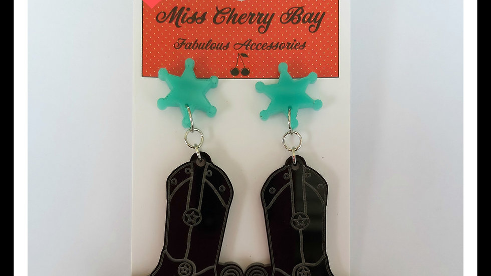 Giddy Up Cowgirl Boot earrings
