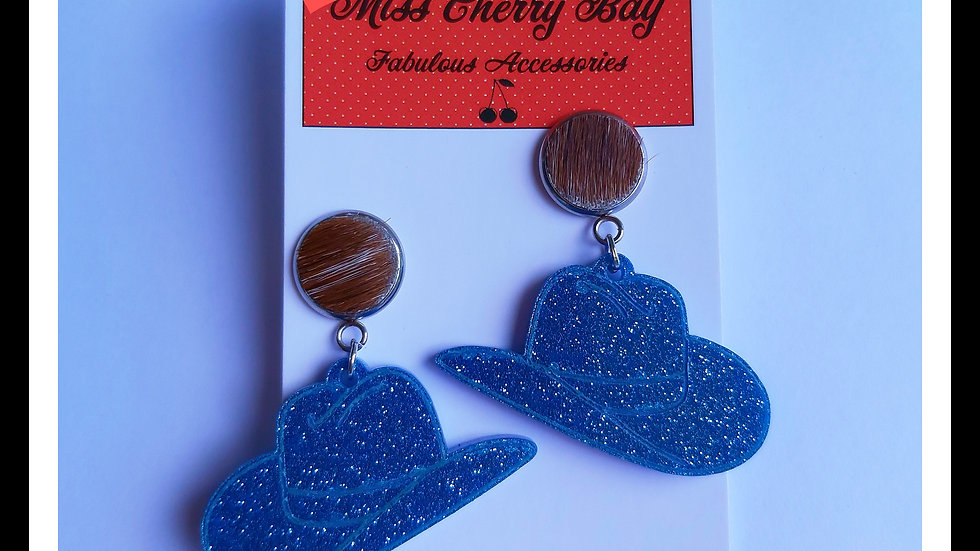 Giddy Up Cowgirl Hat earrings