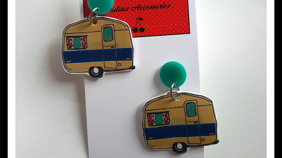 Glamping Shrink Plastic Earrings