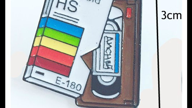 Retro VHS video Lapel pin