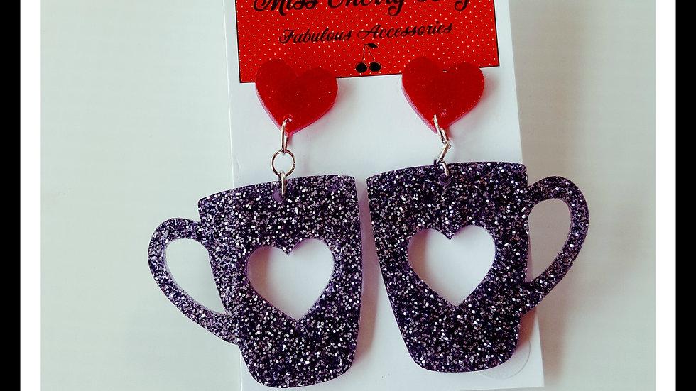 Acrylic Coffee Cup Earrings