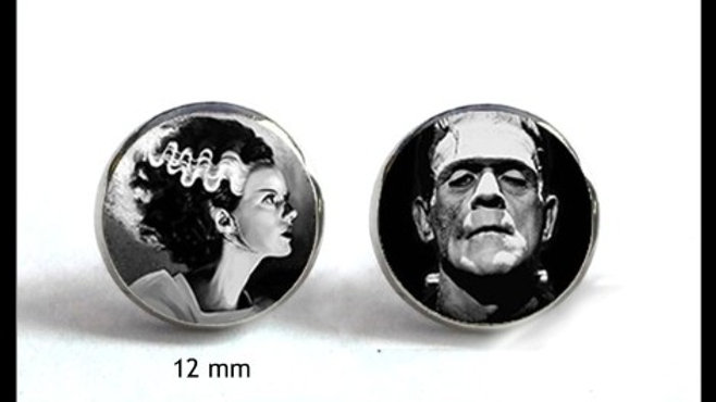 Mini Frank & his Bride Dome Studs