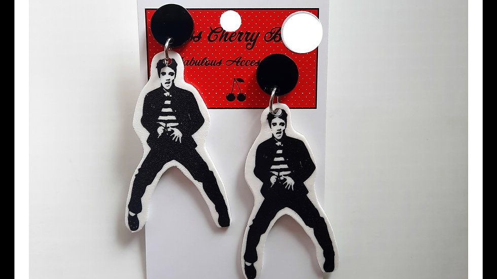 Elvis Shrink Plastic Earrings