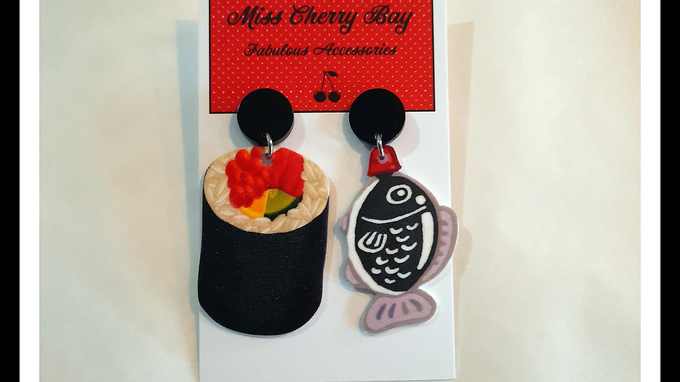 Sushi Love Earrings