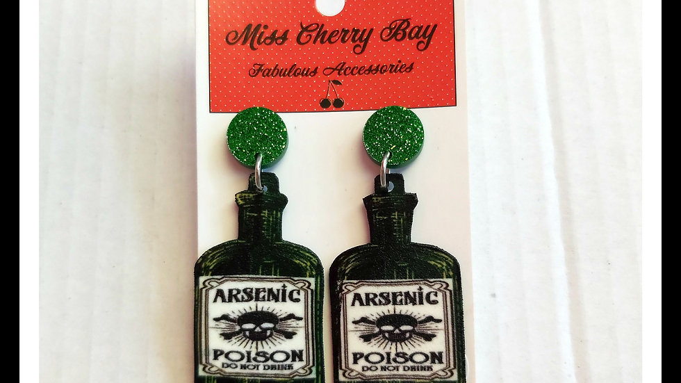 Perfect Poison Shrink Plastic Earrings